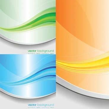 beautifully colored stripes vector