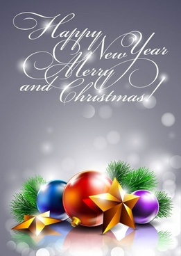 beautifully decorated christmas background 01 vector