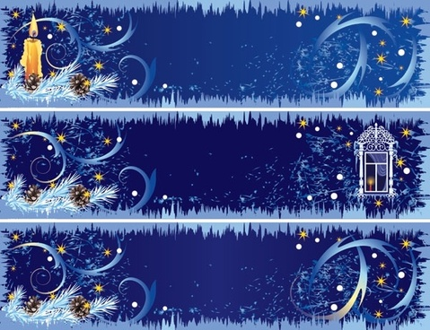 beautifully decorated christmas banner vector