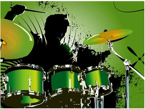 music background drumrer sketch dynamic grunge design