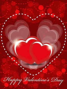 beautifully festive happy valentine background vector