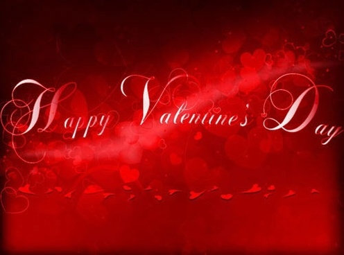 beautifully festive happy valentine hearts background vector