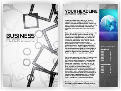business flyer templates modern technology geometrical decor