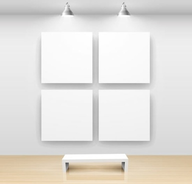 beautifully gallery display background vector