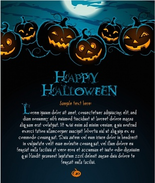 beautifully halloween poster background vector