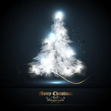 beautifully halo christmas tree 01 vector