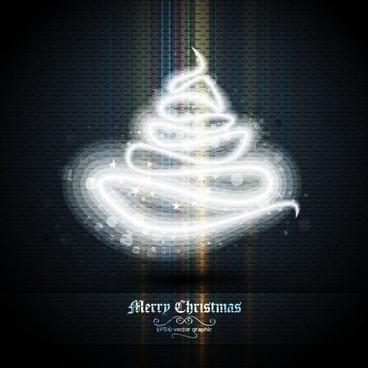 beautifully halo christmas tree 02 vector