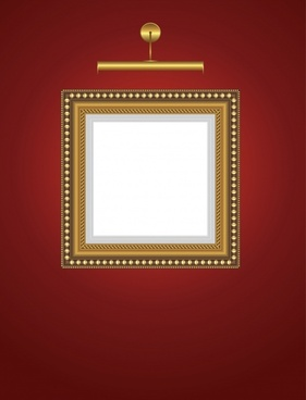 picture frame template colored shiny modern square shape