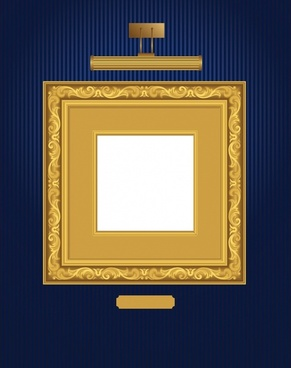 picture frame template golden classic decor elegant design