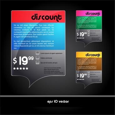 sale tags templates modern colorful speech bubbles shapes