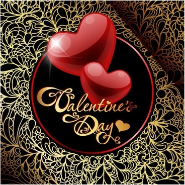 beautifully retro greeting card vector hearttex