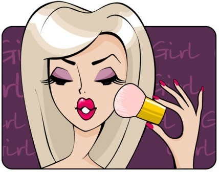 beauty cartoon illustrator 03 vector