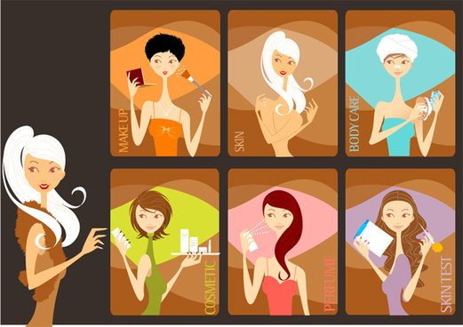 beauty girls vector graphics