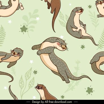 beavers pattern template cute handdrawn classic