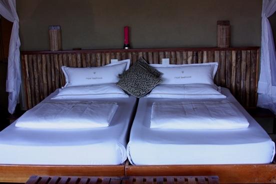 bed bedding white