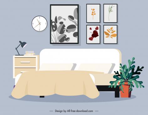 bedroom decorated elements cozy decor classic design