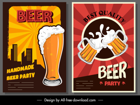 beer advertising banners dynamic glass cups decor