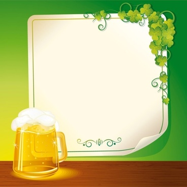 beer and background paper 02 vector