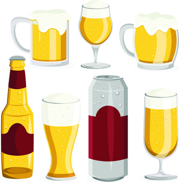 beer and glass cup design graphic vector