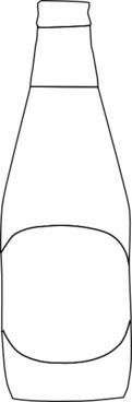 Beer Bottle Outline clip art