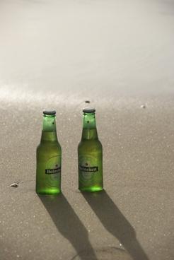 beer bottles beer beach