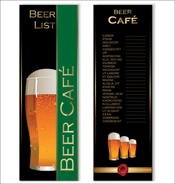 beer menu list design vector graphics