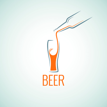 beer menu logo vector graphics