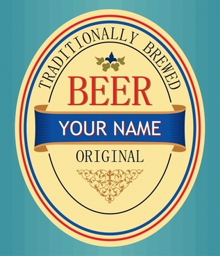 beer label template bright colorful elegant decor