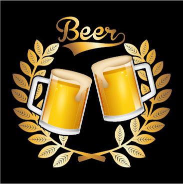 beer stickers creative design
