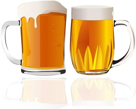 beer advertising background glasses icon colored reflection decor