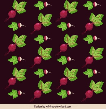 beetroot pattern dark colored repeating decor