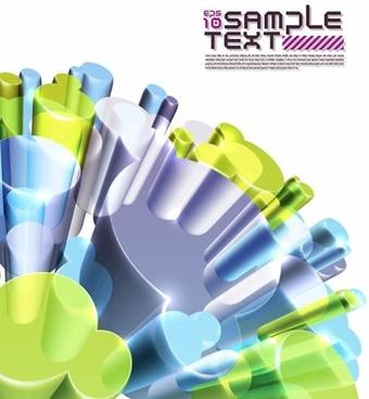 technology background colorful modern transparent 3d columns