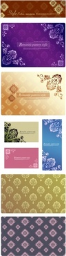 decorative pattern templates elegant classical floral design