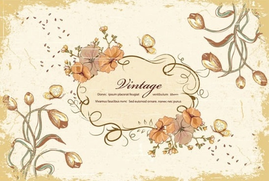 behind the butterfly pattern border vector