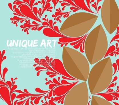 decorative background template elegant classical floral leaves decor