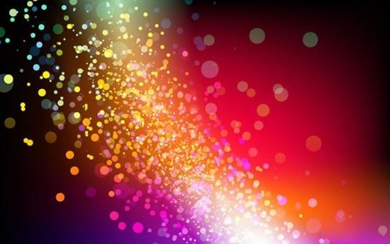 light effect background bokeh sparkling spots decor