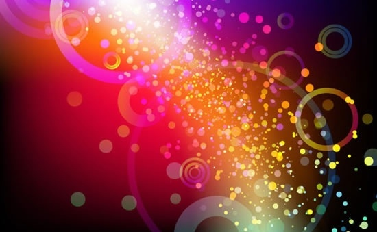 light background twinkling bokeh colorful dynamic design