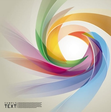 decorative background template colorful dynamic blurred twist shape