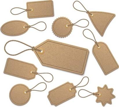 beige cardboard tags vector