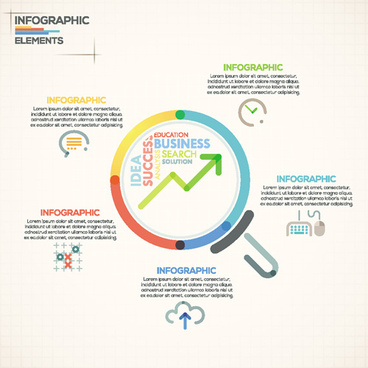 beige infographics elements business template vector