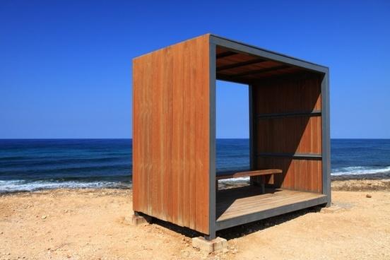 bench blue coast