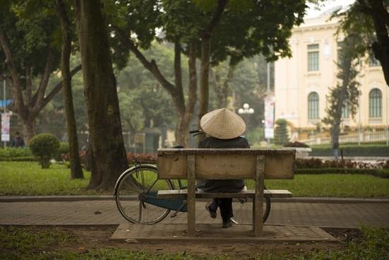 bench chair daytime environment furniture garden