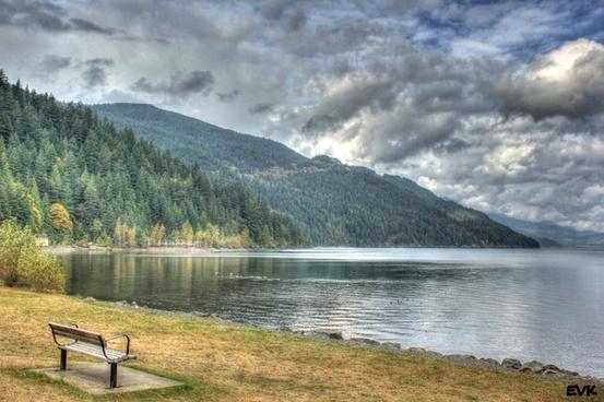 bench scenic landscape