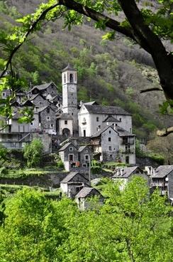 bergdorf ticino alpine