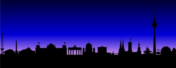 Berlin Germany Skyline clip art