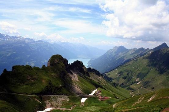 bernese oberland mountains alpine