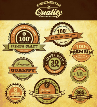best business elements labels vector