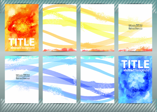 best business flyers cover watercolor style vector