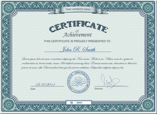 Best certificate photoshop design free vector download 2930 free best certificates design vector set thecheapjerseys