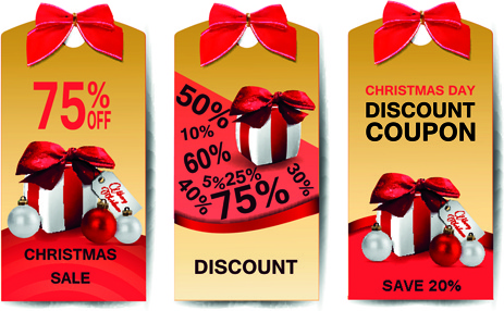 best christmas sale discount tags vector